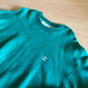 Green Champion Sweater